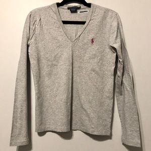 Ralph Lauren Long Sleeve V-Neck Tee